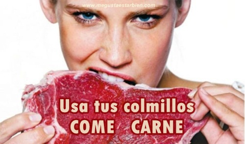 comiendo carne