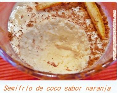 Semifrio de coco textura