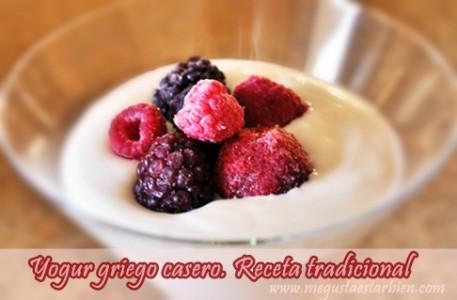 yogur griego con frutos del bosque
