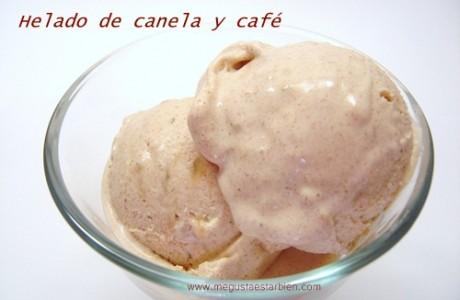 helado de canela y café