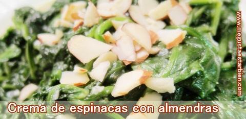 espinacas con almendras