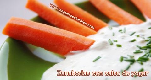 zanahorias con salsa de yogur