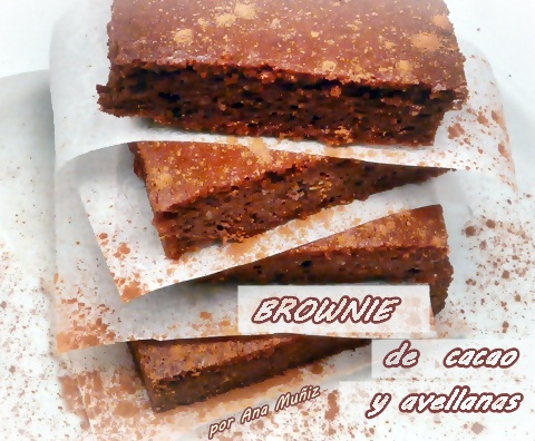 Brownie de cacao y avellanas