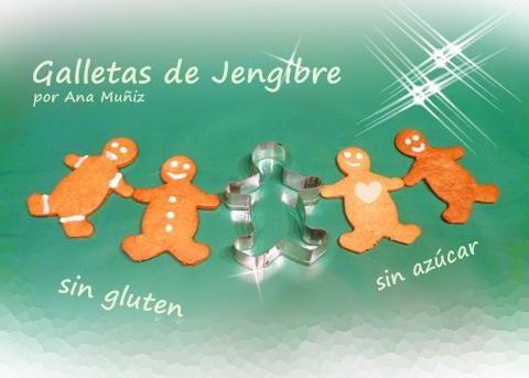 Galletas de jengibre sin gluten sin azúcar