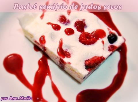 pastel frio de frutos rojos