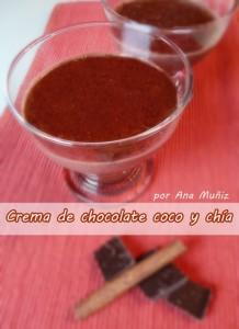 Crema de chocolate coco y chía