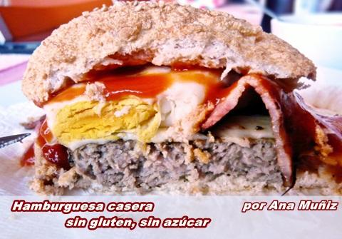 hamburguesa casera sin gluten sin azucar