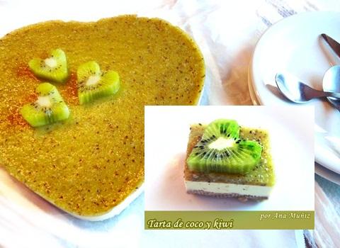 tarta coco y kiwi porcion