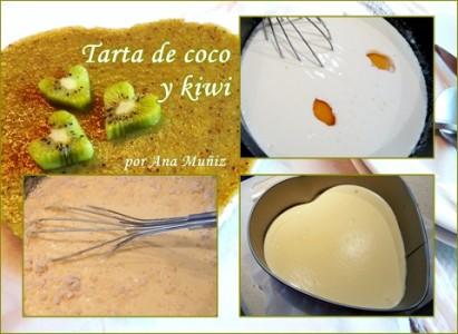 tarta coco y kiwi relleno
