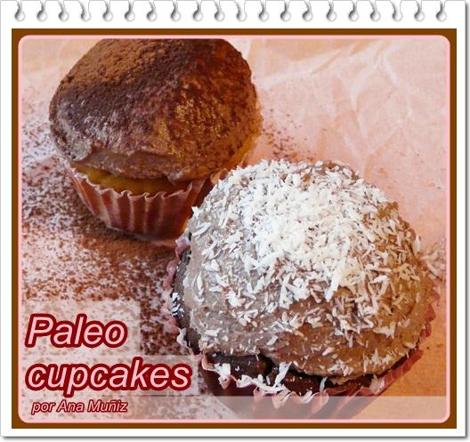paleo cupcakes chocolate y vainilla