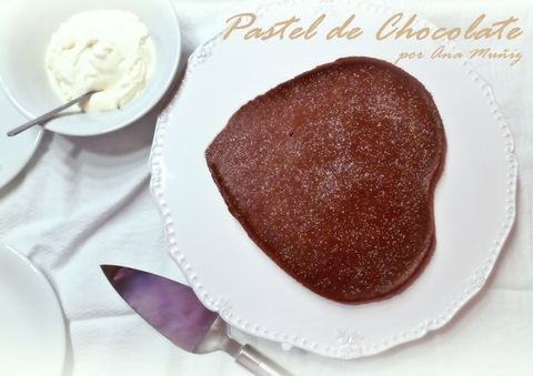 Pastel de chocolate sin harinas