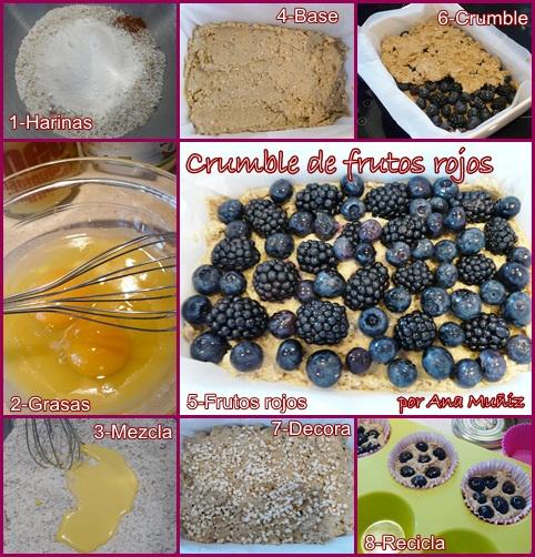 receta crumble frutos rojos