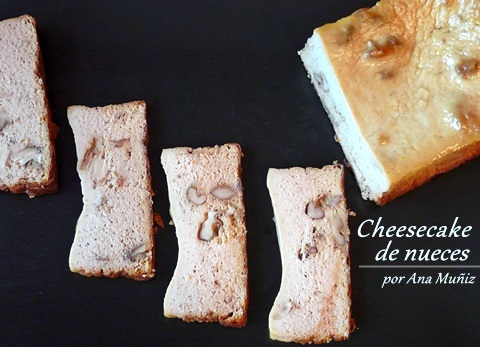 receta cheesecake de nueces