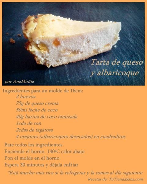 Receta tarta de queso y albaricoque