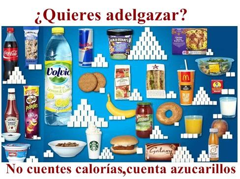azucar en la comida adelgazar