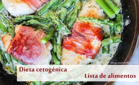 Cetogenica lista de alimentos