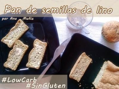 pan de semillas de lino para celiacos