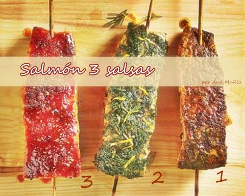 Salmon 3 salsas