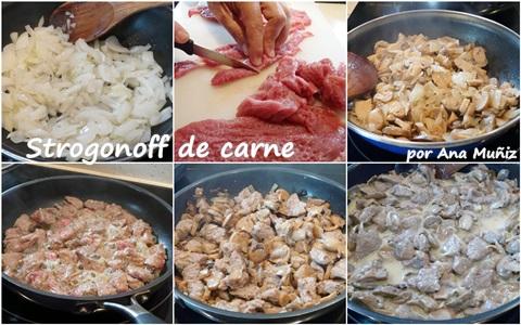 receta strogonoff