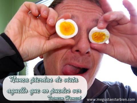 huevo ojos