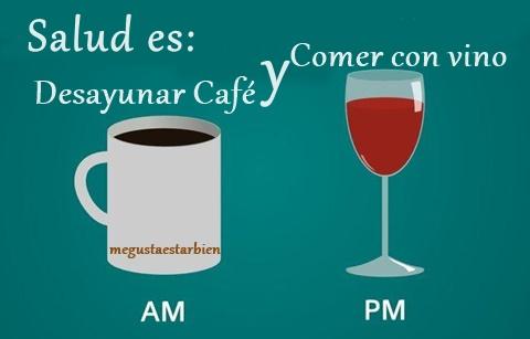 vida es lo que haces entre cafe y vino