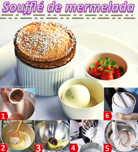 receta souffle de mermelada