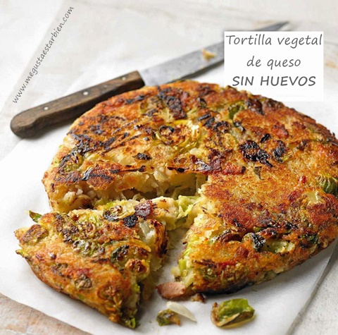 Tortilla vegetal de queso sin huevos